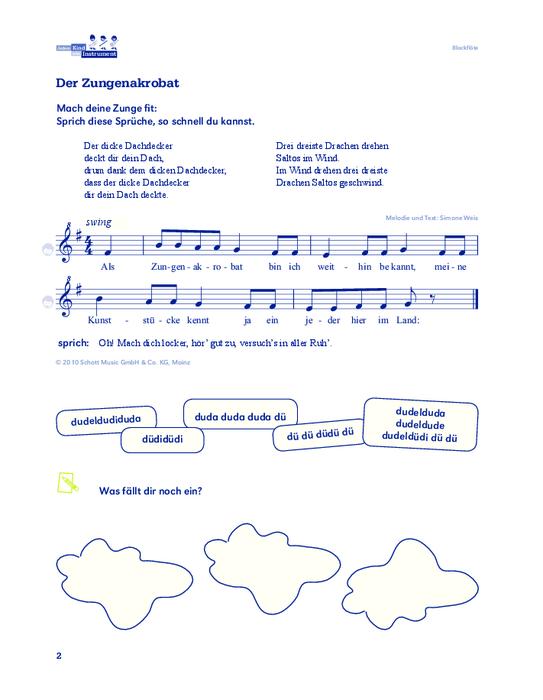Sammelalbum Jedem Kind ein Instrument  Ausgabe für  ~ Wasserhahn Lied