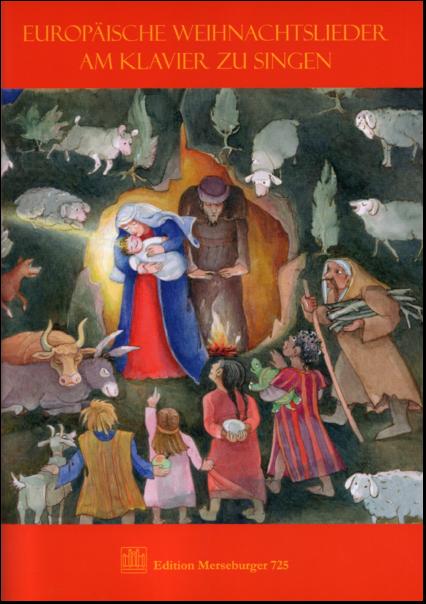 Tschechische Weihnachtslieder.Sammelalbum Europäische Weihnachtslieder Am Klavier Zu Singen Für