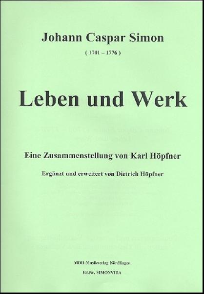 Johann Caspar Simon Leben und Werk Bodensee Musikversand